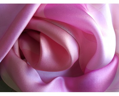 Pink Lotus Long Silk Scarf