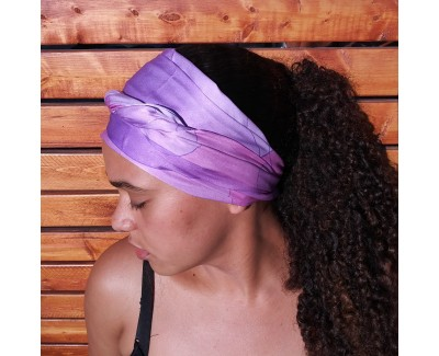 Amethyst Long Silk Scarf
